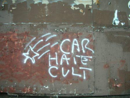 Dangerous gang graffiti