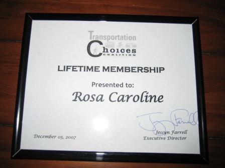 Rosa became a TCC member at not quite five weeks old