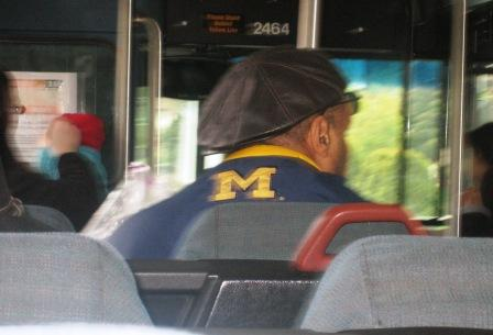A Michigan fan on the 48