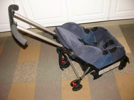 A car seat with wheels
