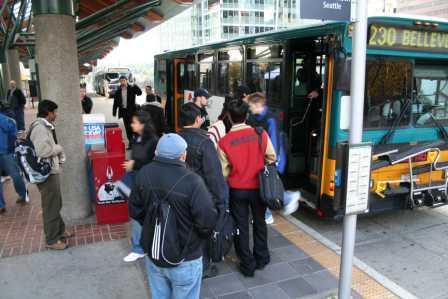 Busy Bellevue Transit Center (Photo courtesty of King County)
