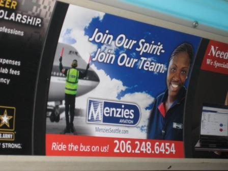 Menzies bus ad