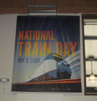 A poster for National Train Day at King Street Station