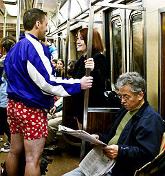 No pants on the subway (Source: New York Daily News)