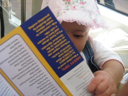 Chicklet learning about the Portland streetcar