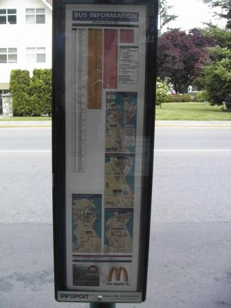 Bus-stop sign in Sidney