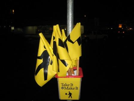 Crosswalk flags in Kirkland