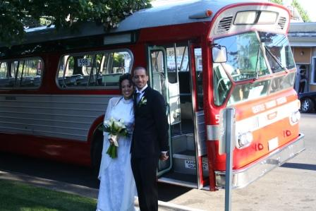 Wedding bus (photo by Chrystal Fisher)