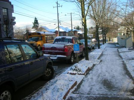 Slippery sidewalks in Seattle