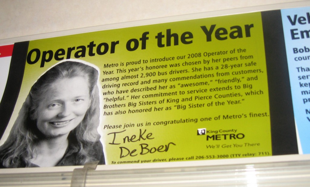 2008 Operator of the Year, Ineke DeBoer