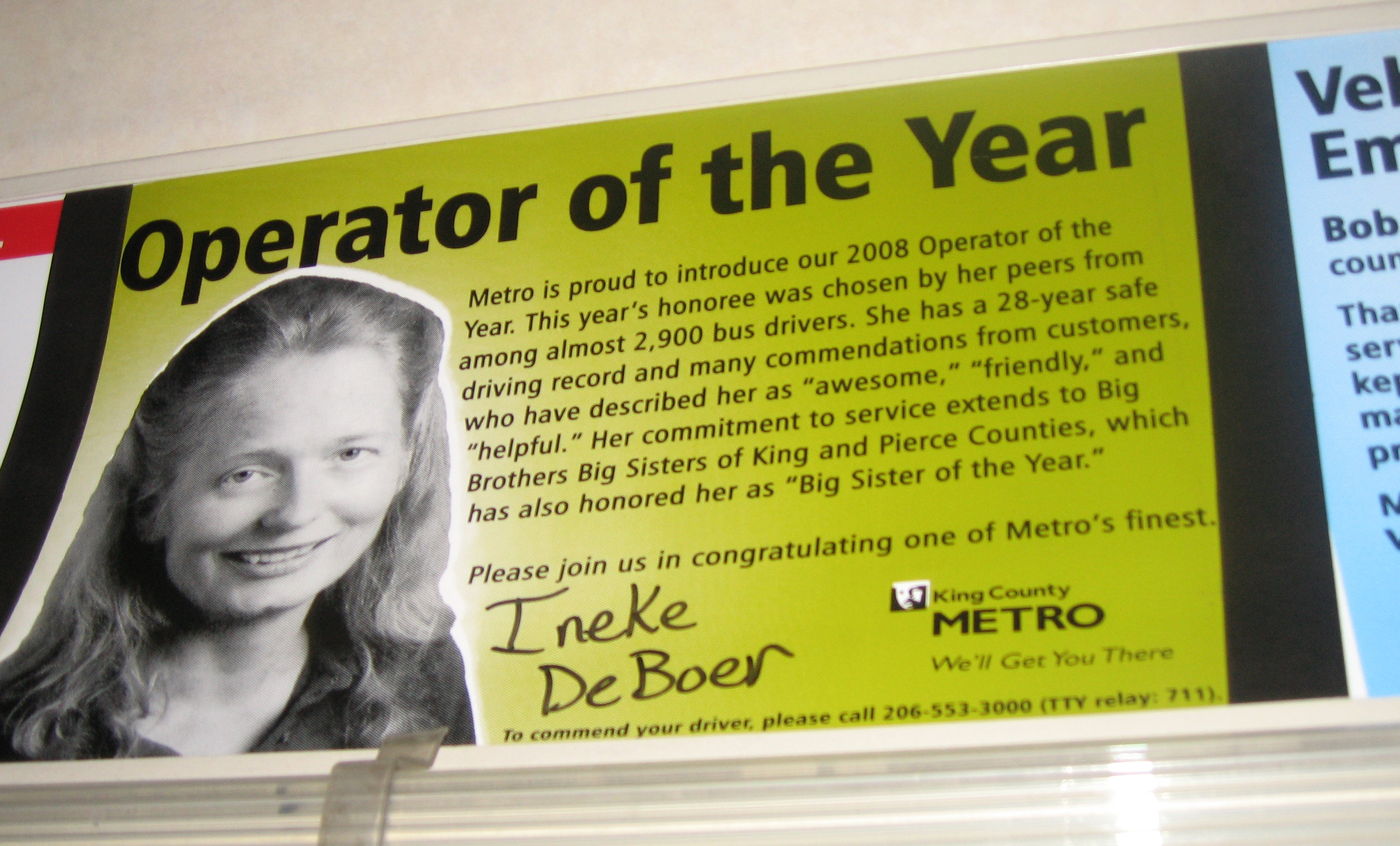 2008 Operator of the Year Ineke DeBoer