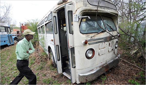 Birmingham bus (photo credit: NYT)