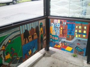 Jacob Lawrence bus stop