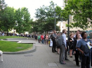 Line to testify - image by Jenn Olegario