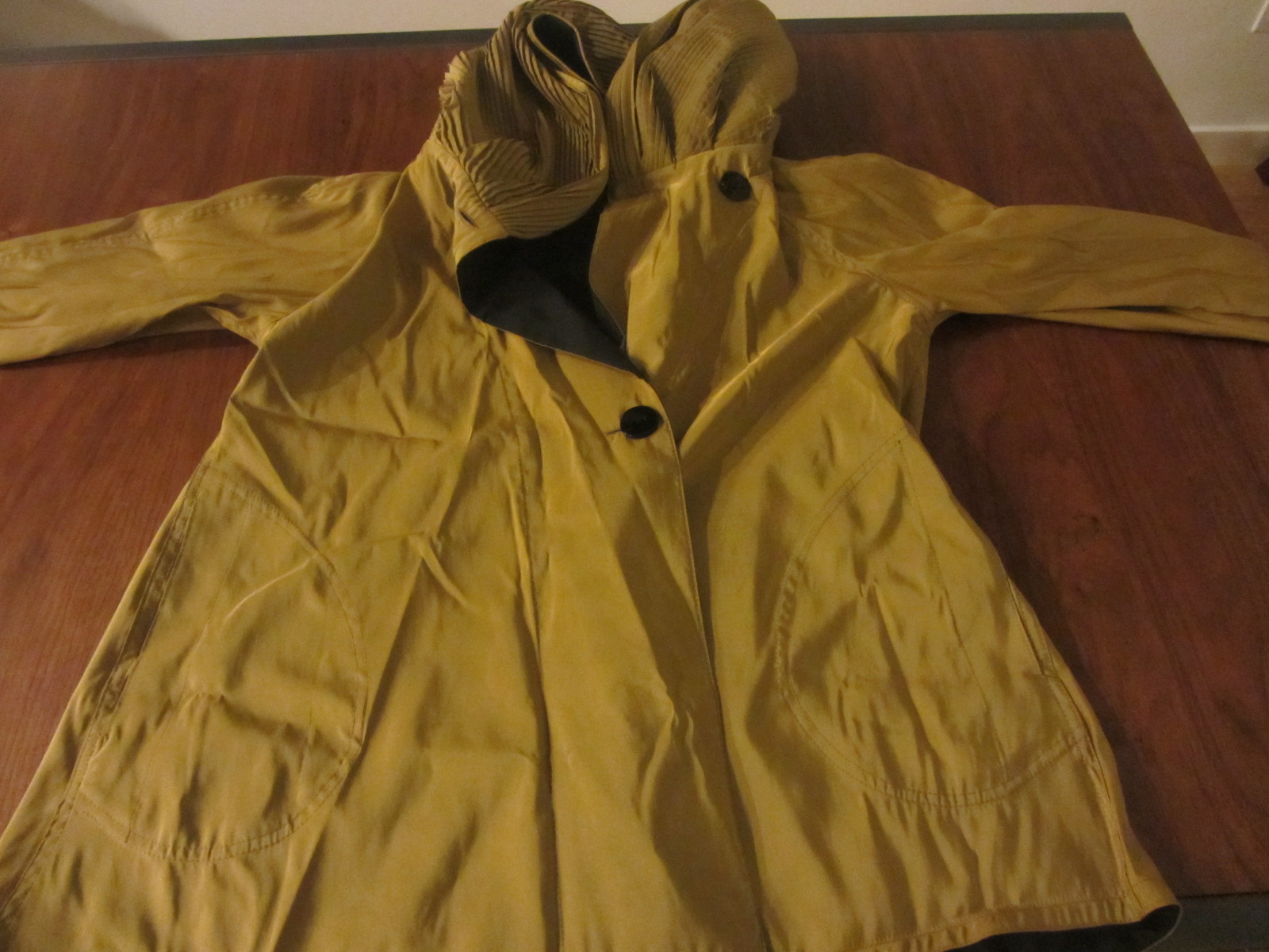 raincoat unfolded
