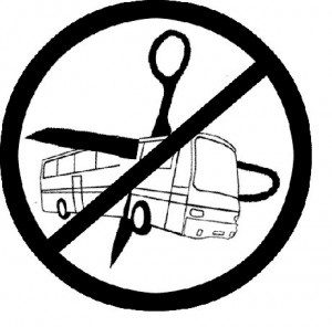 No bus cuts (photo credit: Transportation Riders United)