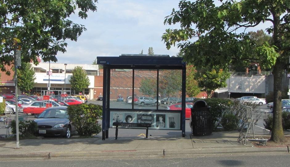 Bus stop memorial