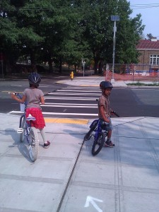 Riding on the greenway