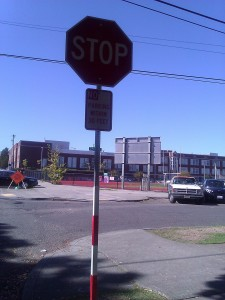 Stop signs at intersections