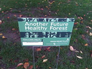 Green Seattle Partnership sign