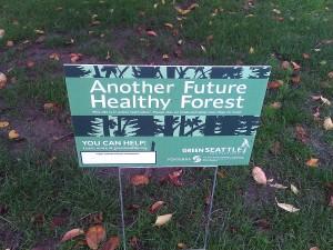 Green Seattle Partnership sign