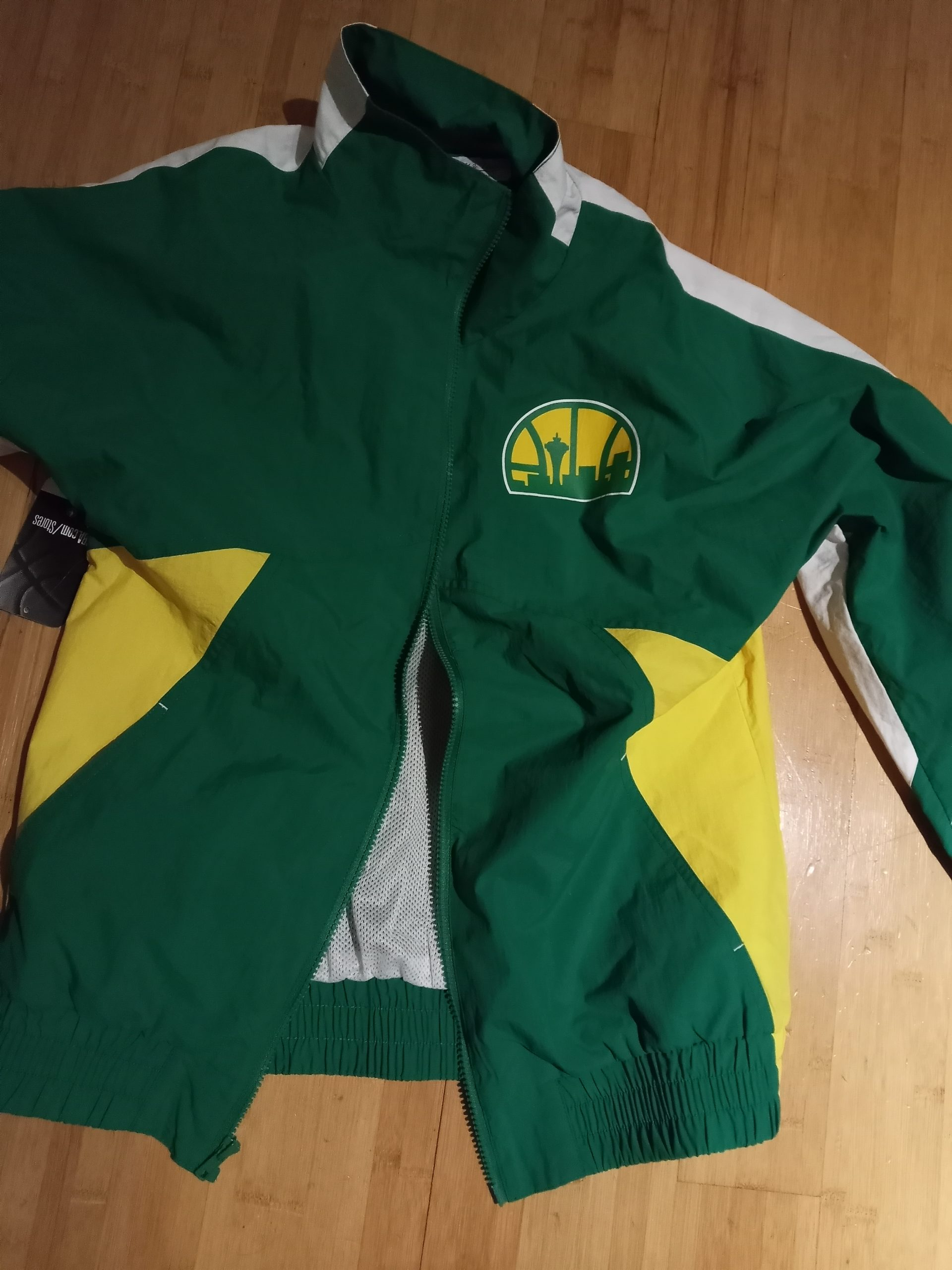 The Sonics jacket, on the day my brother gave it to me